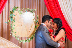 Romantic Indian bride and groom's capture.