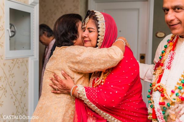 Indian relative at the milni celebration.