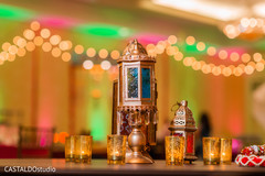 Colorful Indian sangeet lanterns decor.