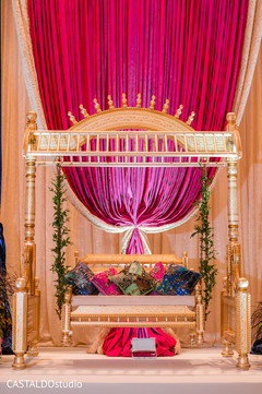 Marvelous sangeet stage decor.