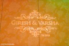 Stunning Sangeet personalized lights decor.