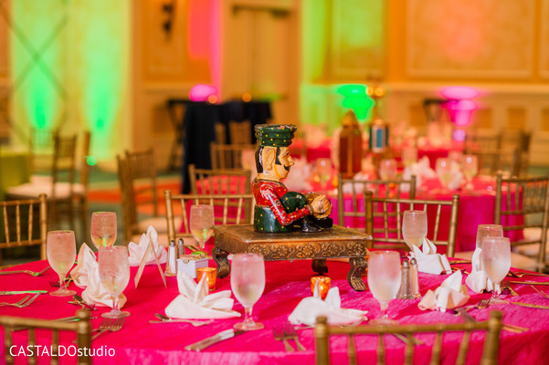 Marvelous Sangeet table centerpiece decor.