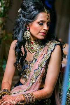Stunning Indian bridal sangeet look.
