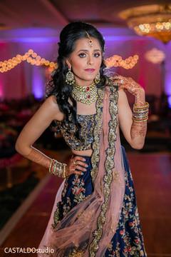 Marvelous Indian bridal Sangeet lehenga outfit.