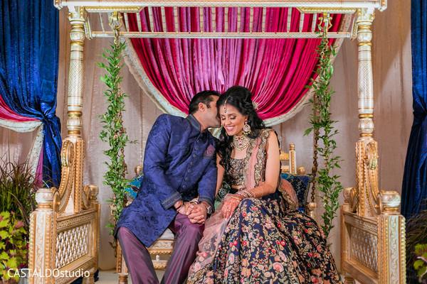 Dazzling Indian bride and groom capture.