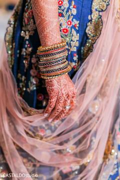Colorful Indian bridal choora capture.