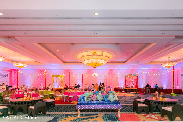 Incredible Indian Sangeet lights decor.