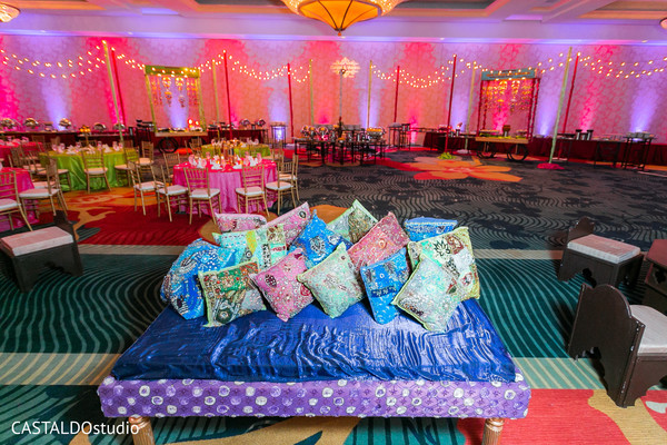 Incredible Sangeet Seats decor.