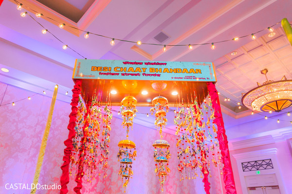 sangeet decor,food sign decor,pre-wedding venue decor