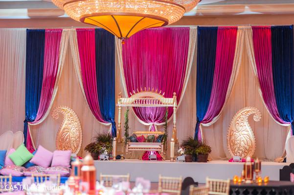 Magnificent Sangeet stage decoration capture.