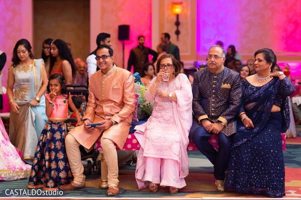 Elegant Sangeet guests capture.