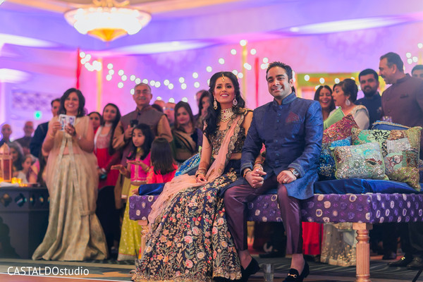 Lovely Indian couple at their Sangeet party.