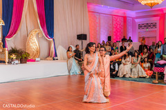 Indian relatives at a special sangeet dance.