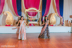 See this lovely Indian bride and bridesmaids sangeet choreography.