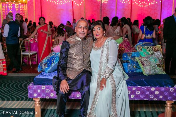 Gorgeous Indian wedding guests portrait.