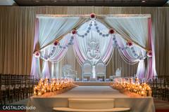 Mandap Indian wedding ceremony flowers decor.