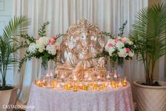 Indian wedding Ganesha Puja god's decor.