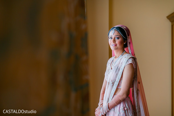 Sweet Indian bride photography.