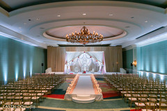 Stunning Indian wedding venue decoration.
