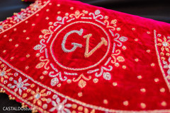 Indian wedding personalized veil capture.