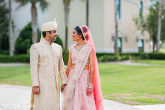 Ravishing Indian couple outdoors capture.