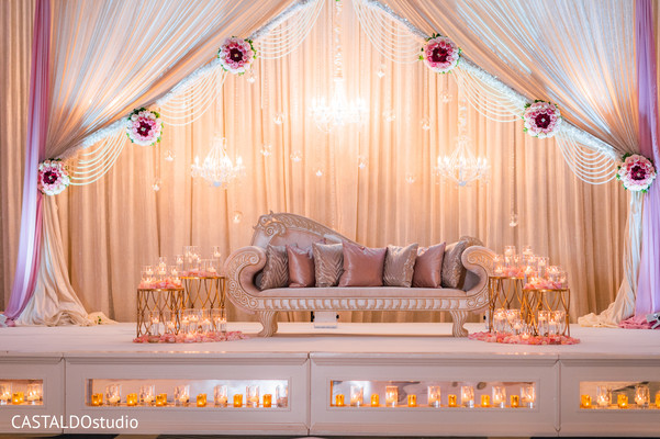 Stunning Indian wedding stage.