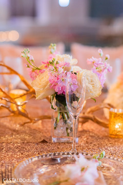 Marvelous Indian wedding floral table centerpiece.