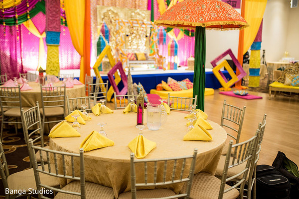 Indian wedding table decor