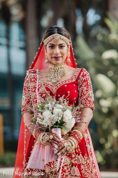 Indian bride's portrait