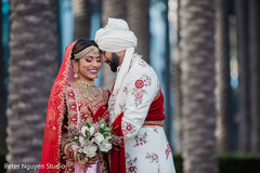Indian bride and groom looking incredible