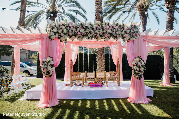 Colorful draping for the Indian wedding