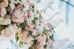 Floral arrangement details of the decor
