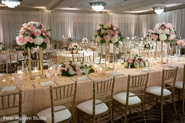 Overview of the table setup decor