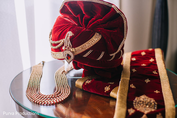 Wonderful Indian groom's ceremony accessories.