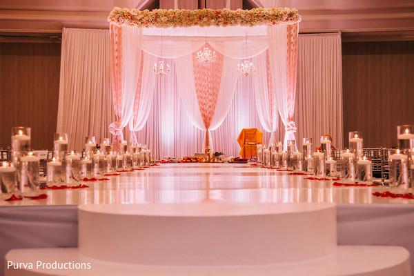 Dreamy Indian wedding ceremony mandap decor.