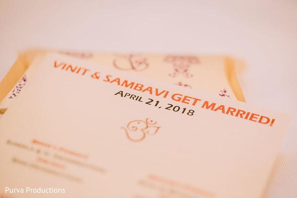 Incredible Indian wedding invitations closeup capture.