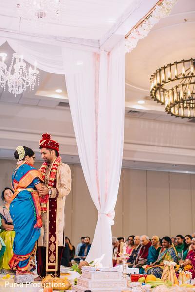 INdian bride at the Shilarohan ritual.