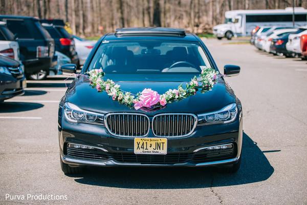 Elegant Indian wedding vehicle.