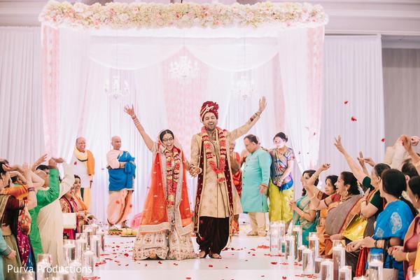 Cheerful Indian wedding ceremony capture.