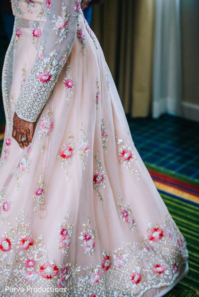 Marvelous Indian bridal reception lehengas decoration.