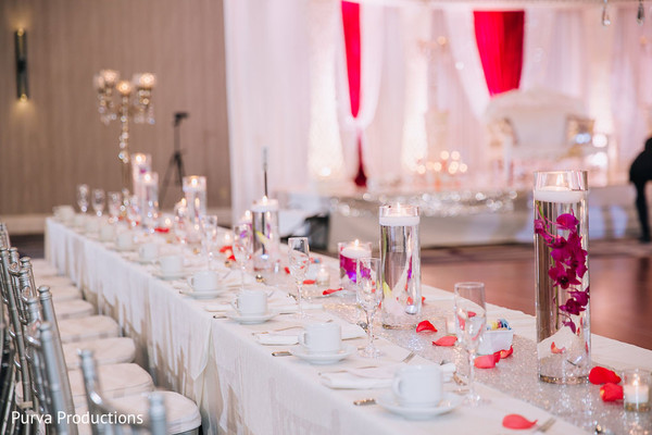 Dreamy Indian  reception table set up.