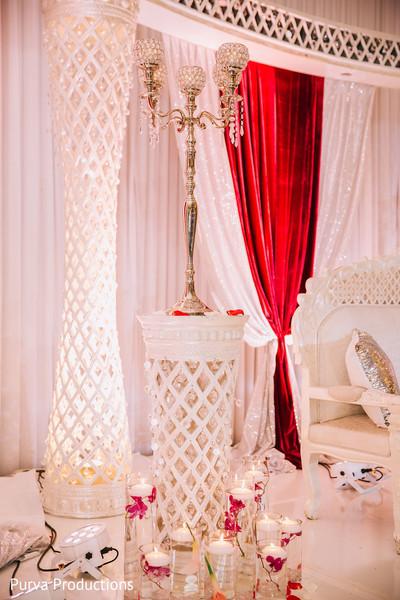 Elegant indian wedding stage decoration.