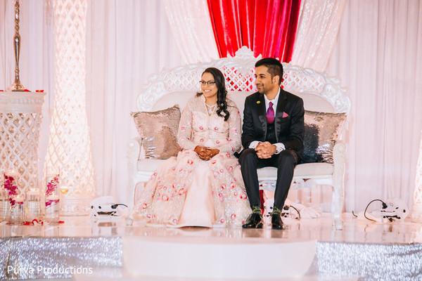 Wonderful indian wedding reception party.