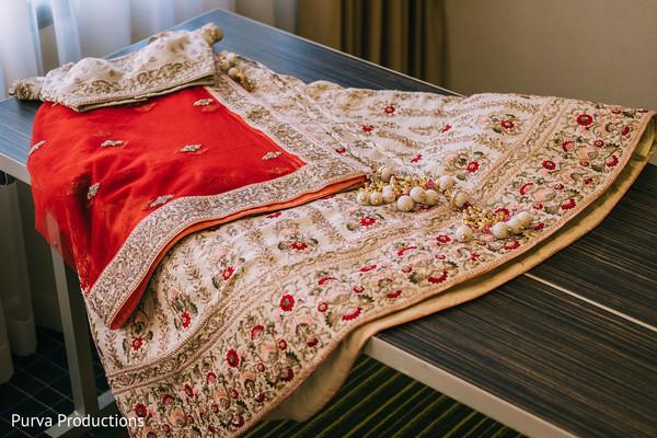 Indian bridal traditional ceremony lehenga.
