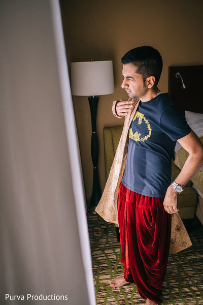 Indian groom getting ready capture.