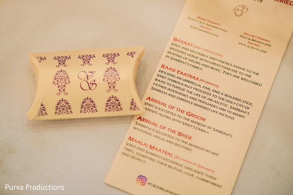 Elegant Indian wedding ceremony printed guide.
