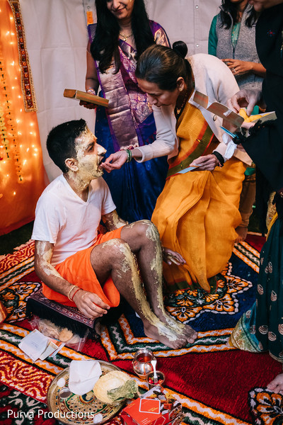 Indian Groom on Haldi Ceremony.