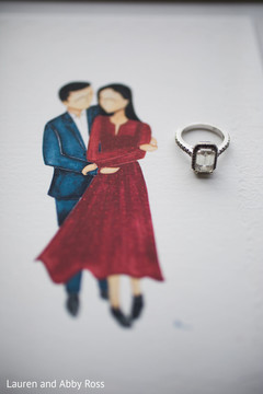 Ring and art of the couple