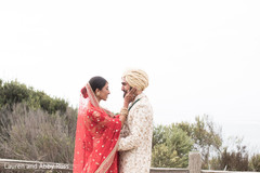 Indian bride and Raja having a romantic moment