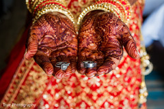 Incredible Indian wedding rings capture.